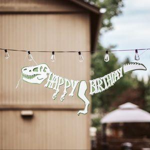 Happy Birthday Dinosaur Banner